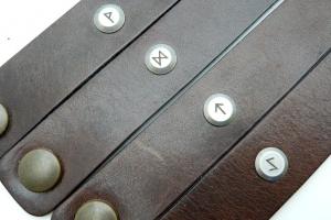Kožený náramek - Láska (220 mm)